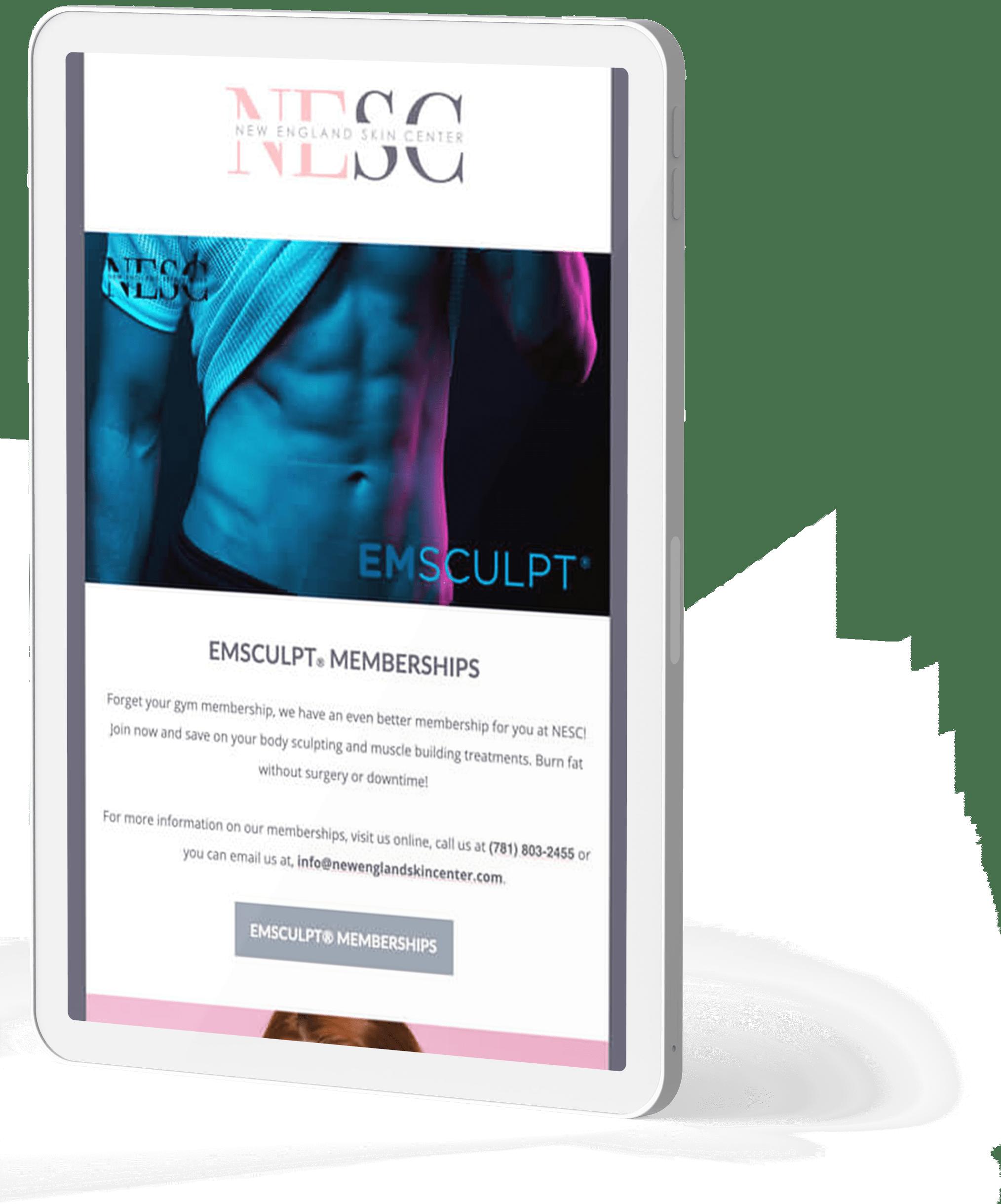 NESC mobile site