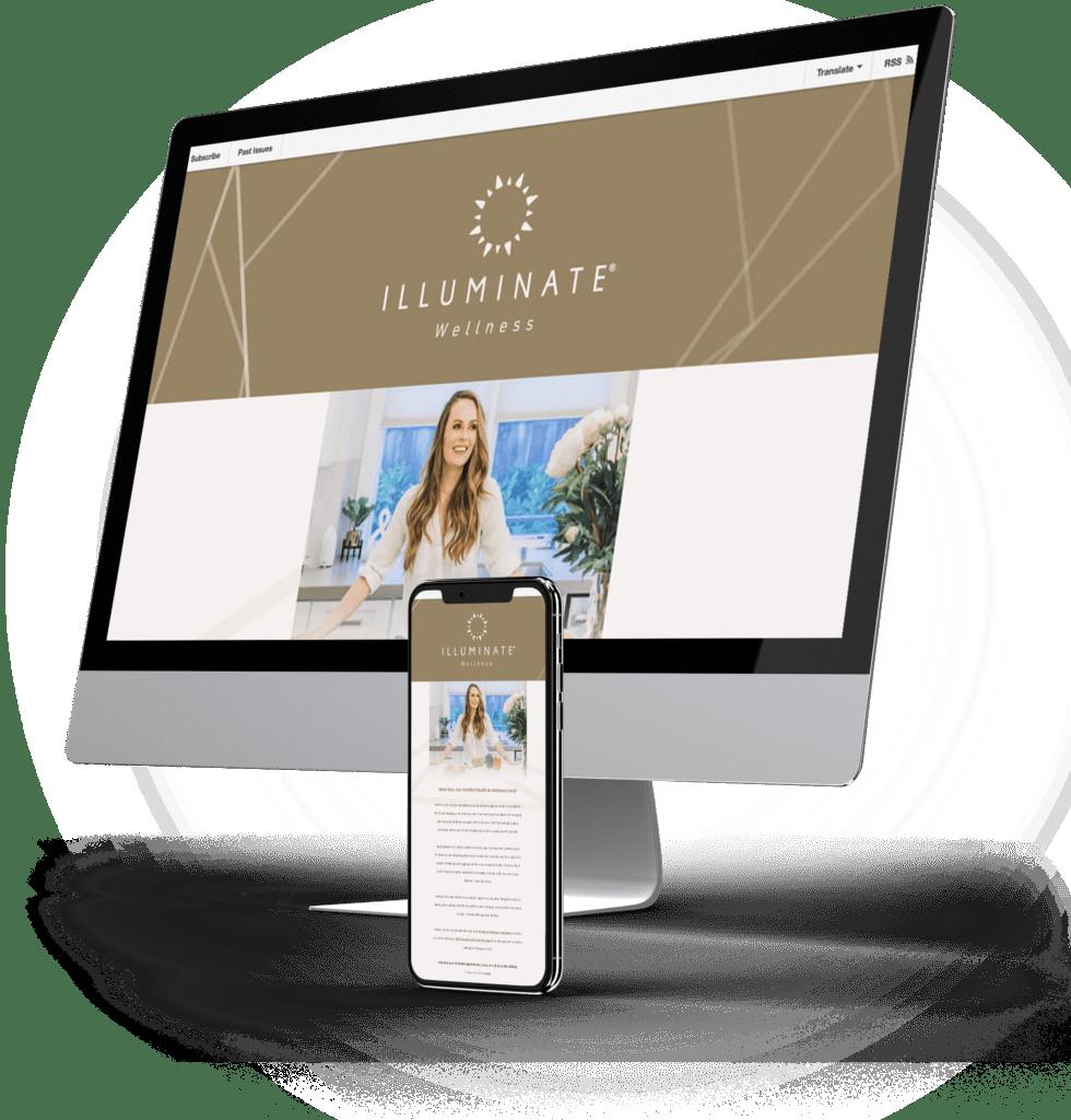 Illuminate Plastic Surgery desktop and mobile sites