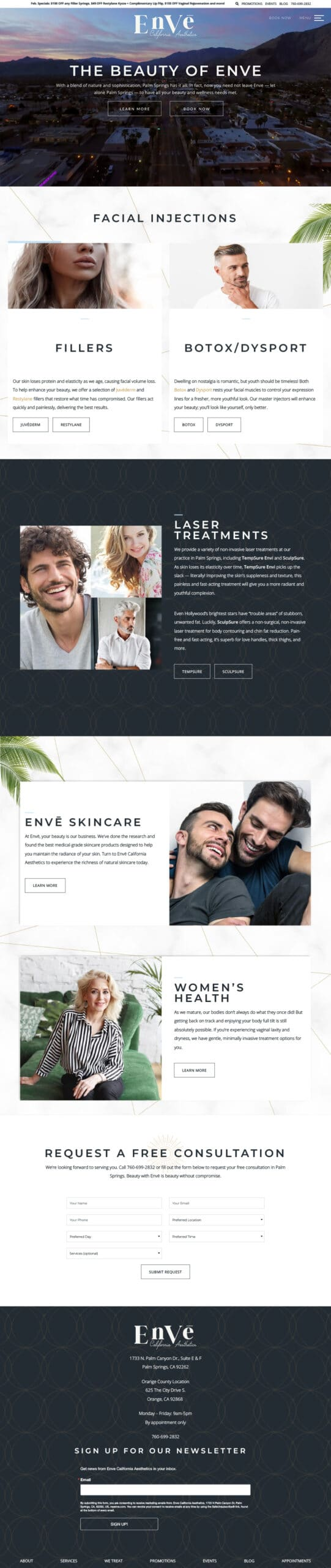 Envē full homepage