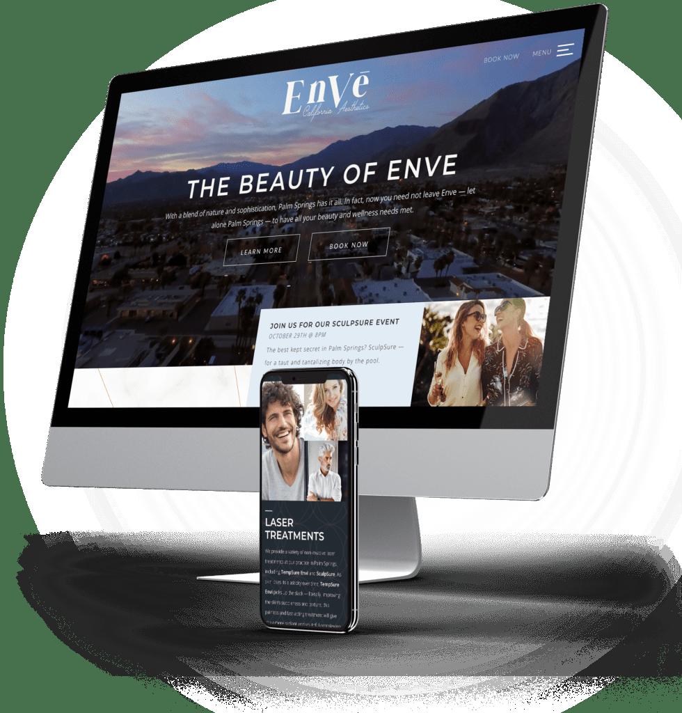 Envē desktop and mobile sites