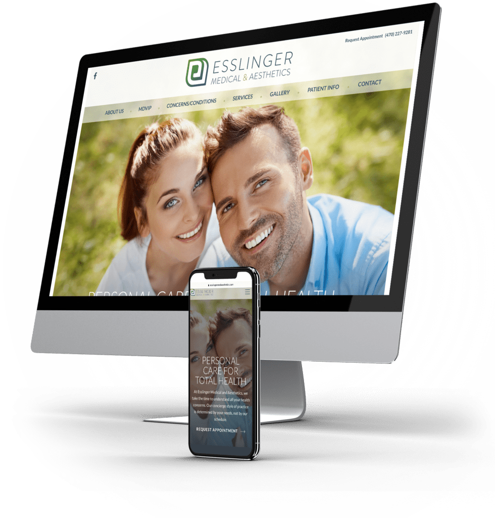 Esslinger Medical & Aesthetics desktop and mobile sites