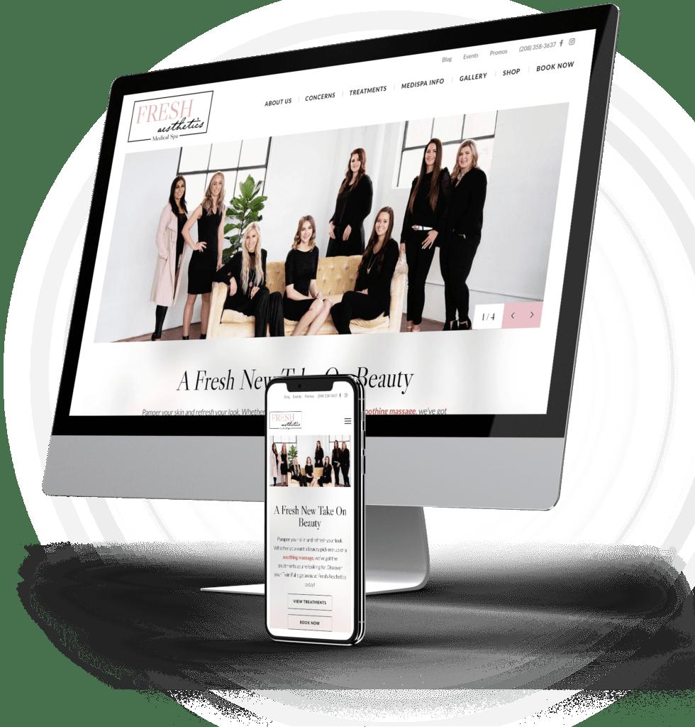 Fresh Aesthetics Medical Spa desktop and mobile sites