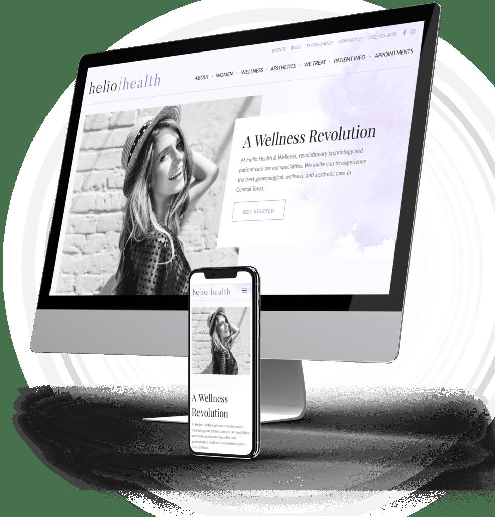 Helio Health desktop and mobile sites