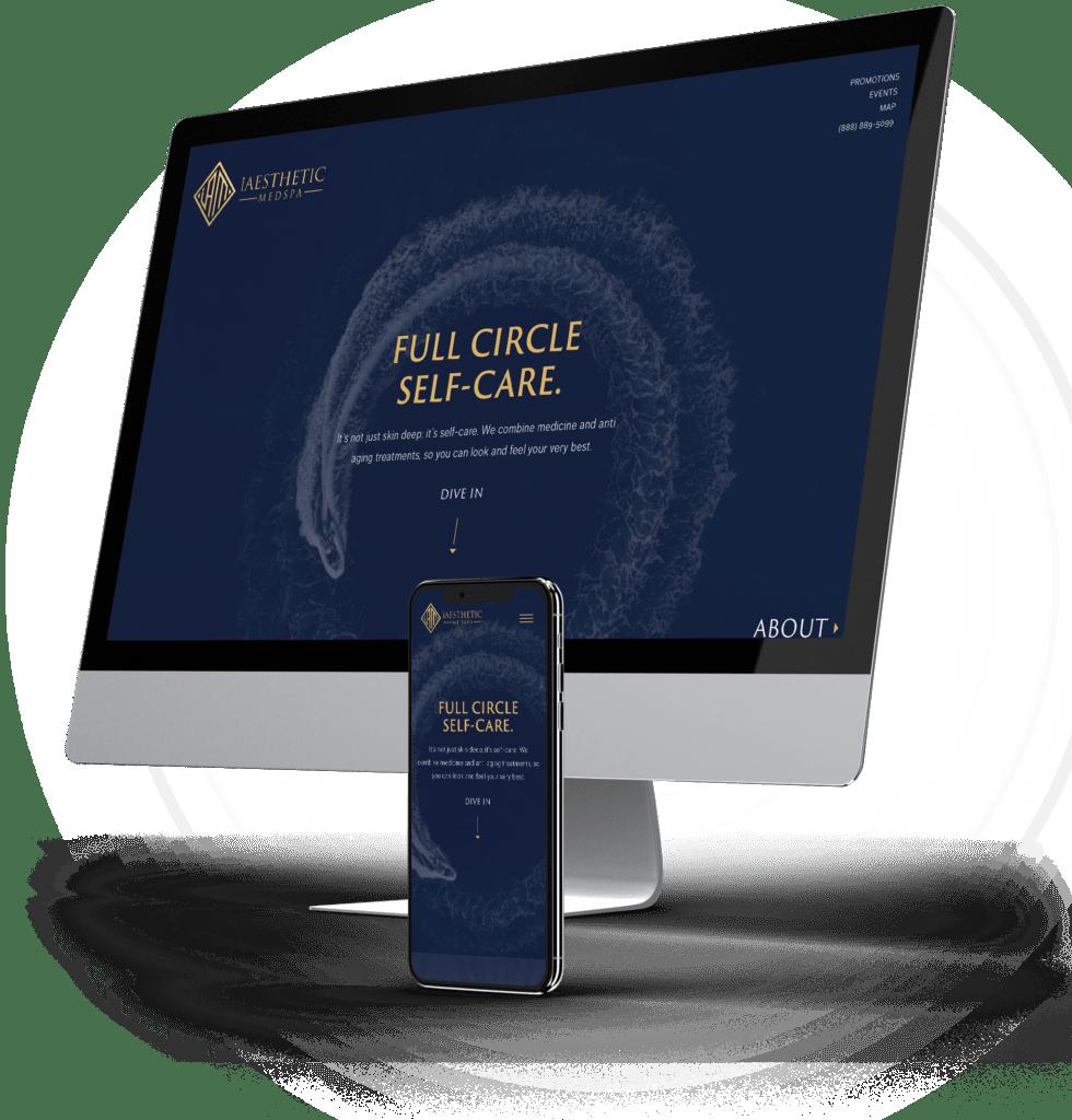 iAesthetic Medspa desktop and mobile sites