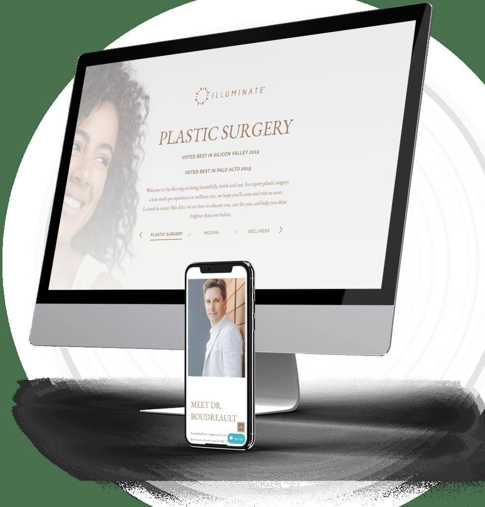 Illuminate site on desktop and mobile