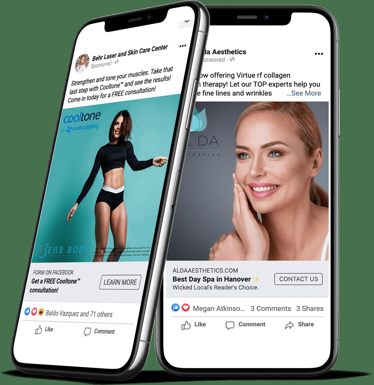 Social media ads on cellphones